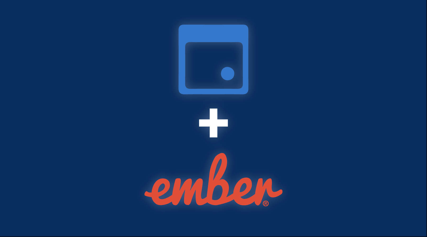 fullcalendar and ember logos with plus sign