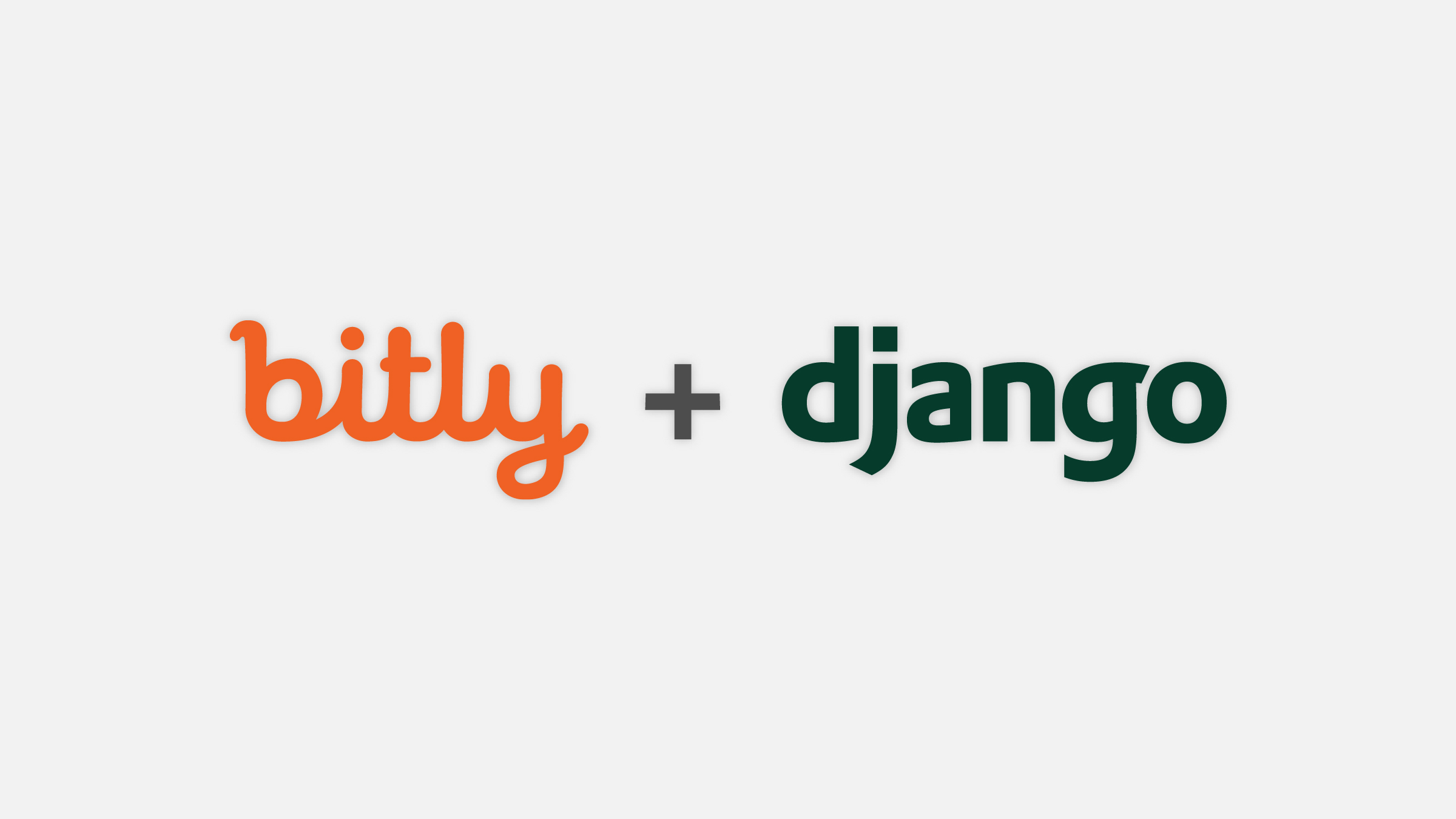 the bitly logo, a plus sign, and the django logo in a row